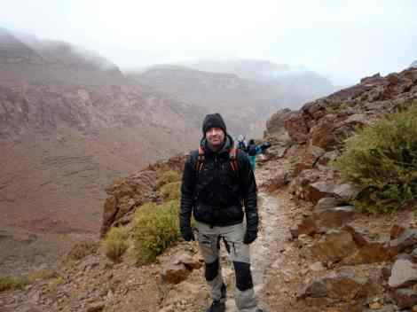 Neil inspecting for the WTTC's Tourism For Tomorrow Awards in the Todra Gorge, Morocco in 2011.